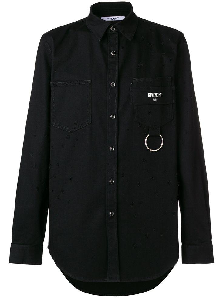 Givenchy camisa ajustada con parche del logo