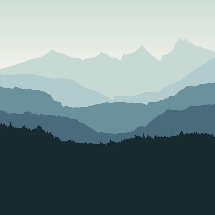8 best illustrations mountains landscape images on