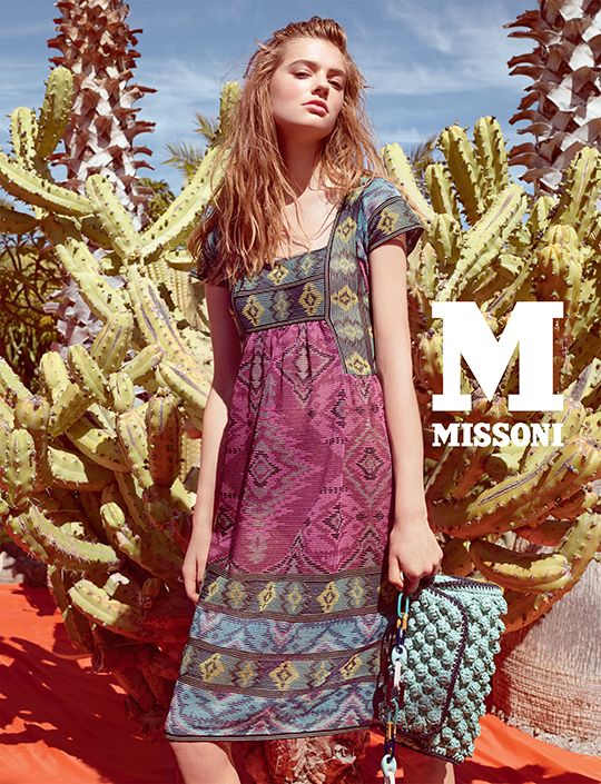 #MMissoni Advertising Campaign | Spring Summer 2015 | Frida Kahlo | Mexico | GRAPHIC GEO DESIGN DRESS