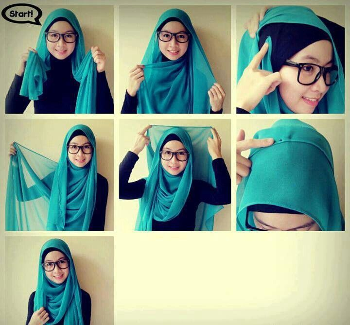 Hijab tutorial - Simple and Easy ♥ Muslimah fashion hijab style