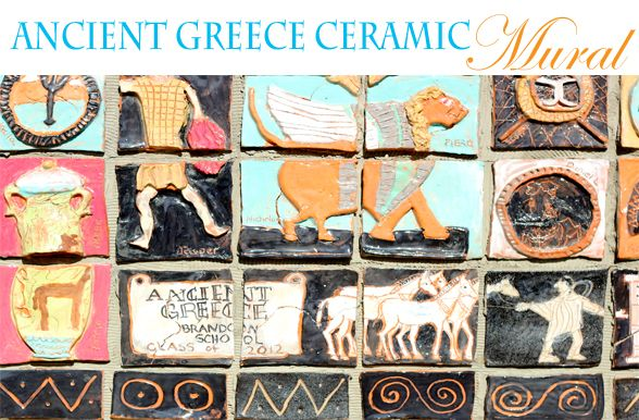 Ceramic mural project plan ancient greece art projects for Ancient greek mural