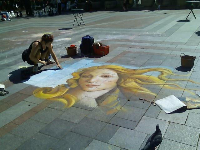 Simply amazing sidewalk chalk art