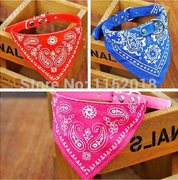 Neue mode rot/blau/pink schönen Tiere einstellbare steuerung welpen kleidung hund schal bandana halstuch katzenhalsband