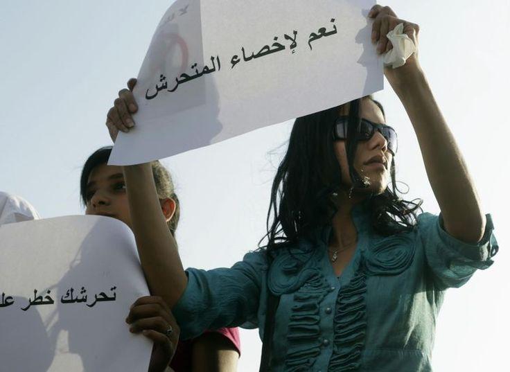 Le 11 juin, lors d'une manifestation de soutien après l'agression sexuelle d'une femme lors des célébrations marquant la victoire d'Abdel Fattah al-Sissi à l'élection présidentielle.