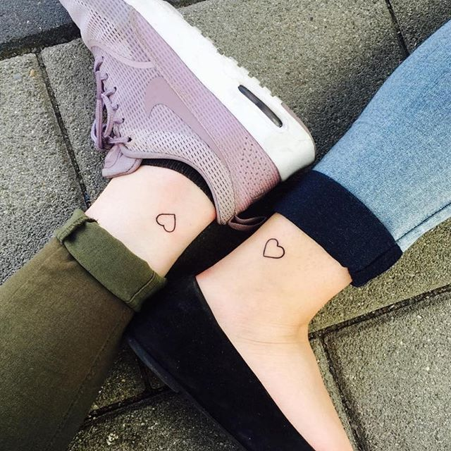 Pin for Later: 55 Creative Tattoos You'll Want to Get With Your Best Friend Have a Heart
