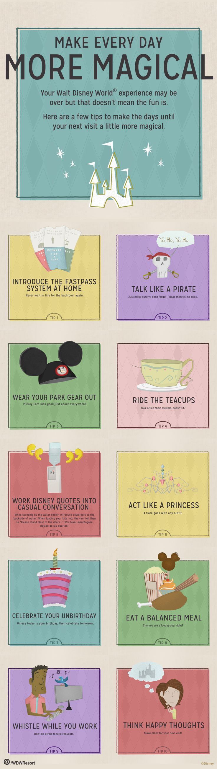 .Make every day more magical...tips for surviving between Disney parks trips.