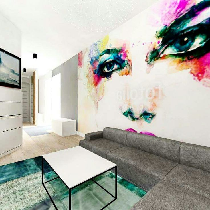 Ściana  z fototapetą, architekt Swarzedz Słupca Września Poznań Projekty domów, mieszkań, ogrodów, wnętrz www.479.com.pl #projekt #salonu #mieszkania