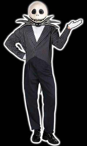 Adult Jack Skellington Costume Halloween with Tim Burton - tim burton halloween decorations