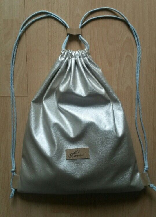 Silver backpack