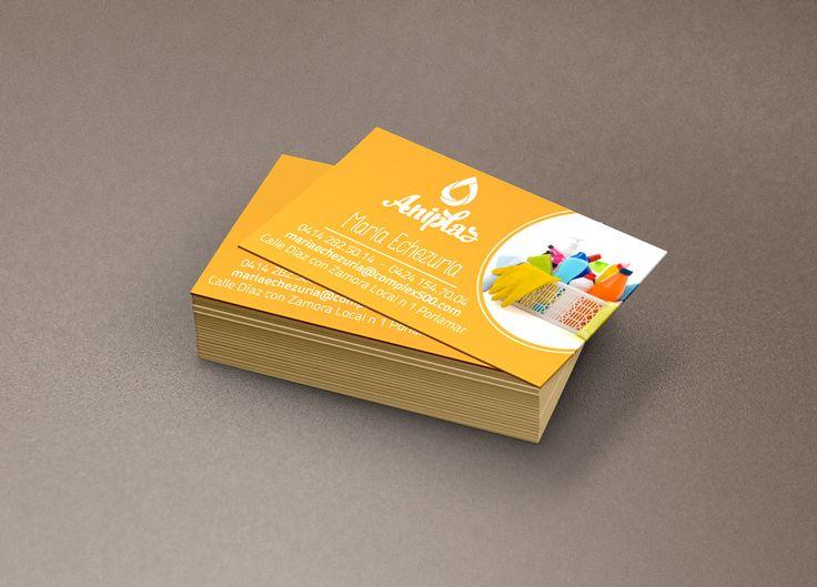 Tarjetas de presentación para Aniplas diseñadas por Ambros Imprenta Digital y Estudio de Diseño