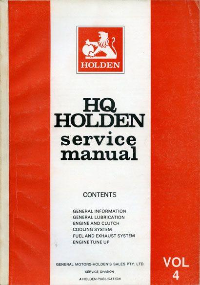 HQ Holden Service Manual - Volume 4