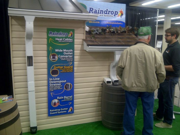 Ryan Educating A Customer About Gutterguards At The Desmoines Home And Garden  Show