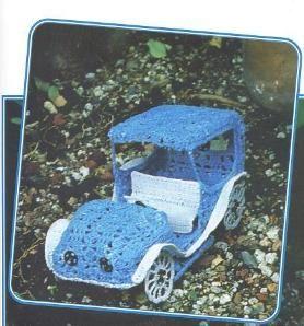 Ganchillo, macramé y patchwork: Un coche a crochet