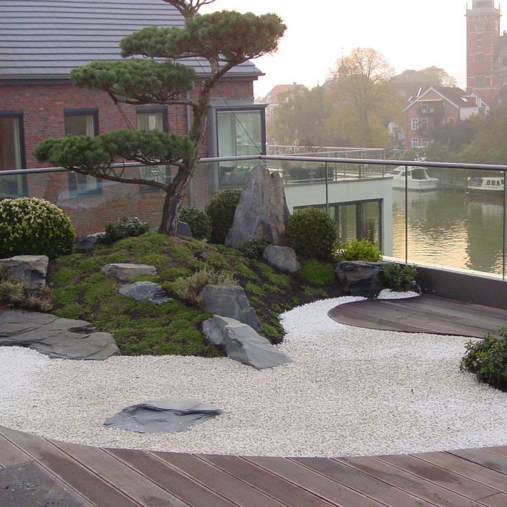 358 best balcony terrace zen images on pinterest for Balcony zen garden