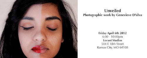 My name is Genevieve D'silva and I am a photographer at the Kansas City Art Institute. This is a post card for my upcoming thesis exhibition. Visit my blog at: gendsilva.blogspot.com