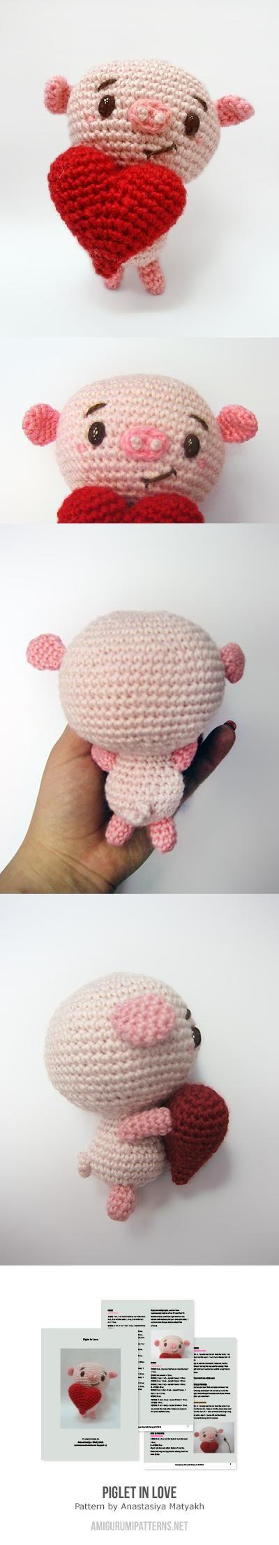 Piglet In Love Amigurumi Pattern