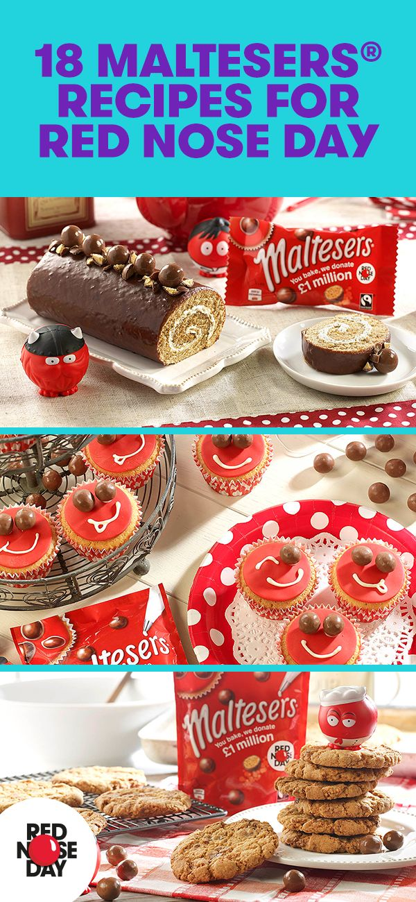 We've teamed up with Maltesers to bring you some delicious baking recipes. Sell your creations at your Red Nose Day bake sale, if you can avoid scoffing them all yourself!