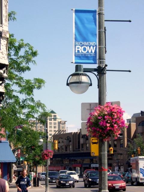 Richmond Row boutique shopping district in  London, Ontario, Canada.