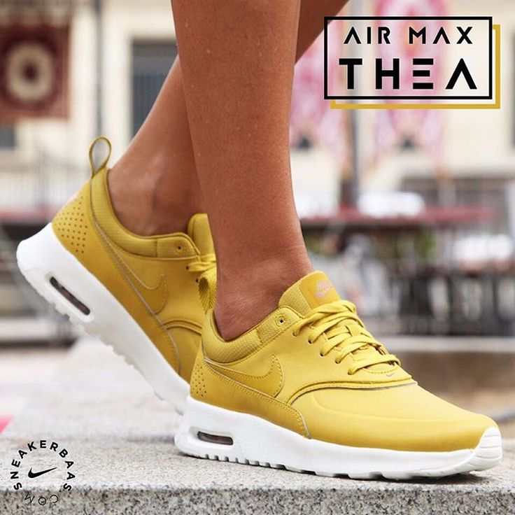 141 best images about sneakers: nike air max thea on pinterest - nike air max thea womens yellow orange