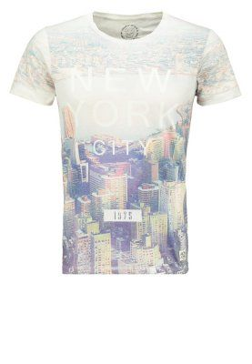 JJORMEST SLIM FIT - T-shirts med print - cloud dancer