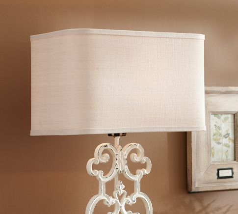 Pottery Barn Burlap Lamp Shade