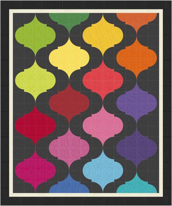 Gaslight Quilt pattern by SMCNY | Sew Many Creations NY at Etsy.  Drunkard's Path variation.