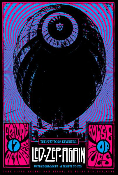 Led Zeppelin Classic rock music concert poster psychedelic ☮ ☮❥Hippie Style❥☮☮