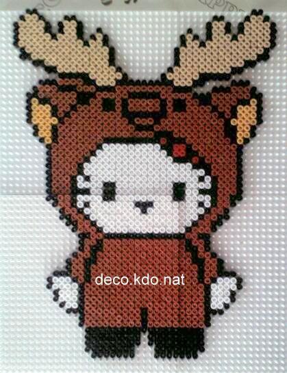 Hello Kitty rennes de noël - hama