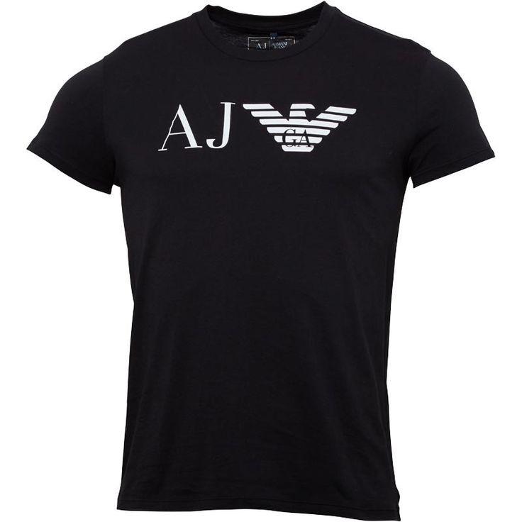 Armani Jeans Mens Crew Neck Logo T-Shirt Black Armani Jeans short sleeve crew neck tee. http://www.MightGet.com/february-2017-2/armani-jeans-mens-crew-neck-logo-t-shirt-black.asp