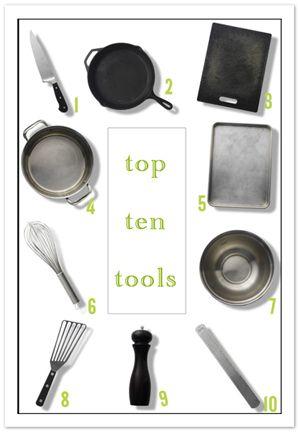 Top Ten Basic Kitchen Tools, from #FourFoodiesBasic Kitchens, Kitchens Essential, Ten Basic, Gift Ideas, Tops Ten, Tools ادوات, Kitchens Gadgets, Kitchens Tools, Kitchen Tools