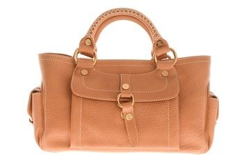 Celine Cabestan Boogie Tan Leather Top Handle Mint Camel Tote Bag