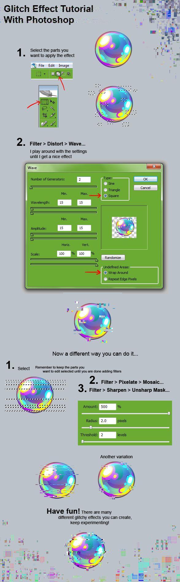 Glitch Effect Tutorial by Kawiku.deviantart.com on @deviantART