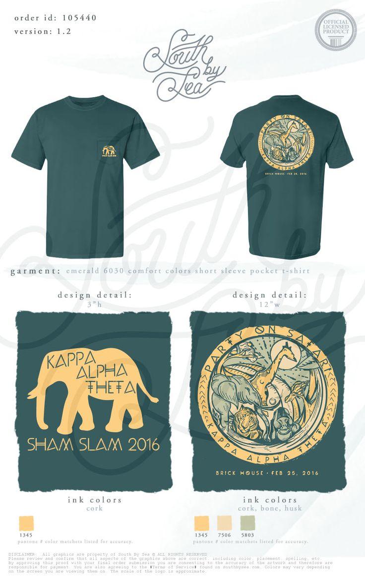 Design your own t shirt chicago - Kappa Alpha Theta Thetas Party On Safari Jungle T Shirt Design