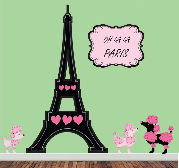 """Oh La La PARIS"" Reusable Wall Decals, via Etsy!"