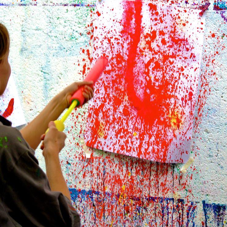 Graffiti- oder Actionpainting-Party - Machwerk