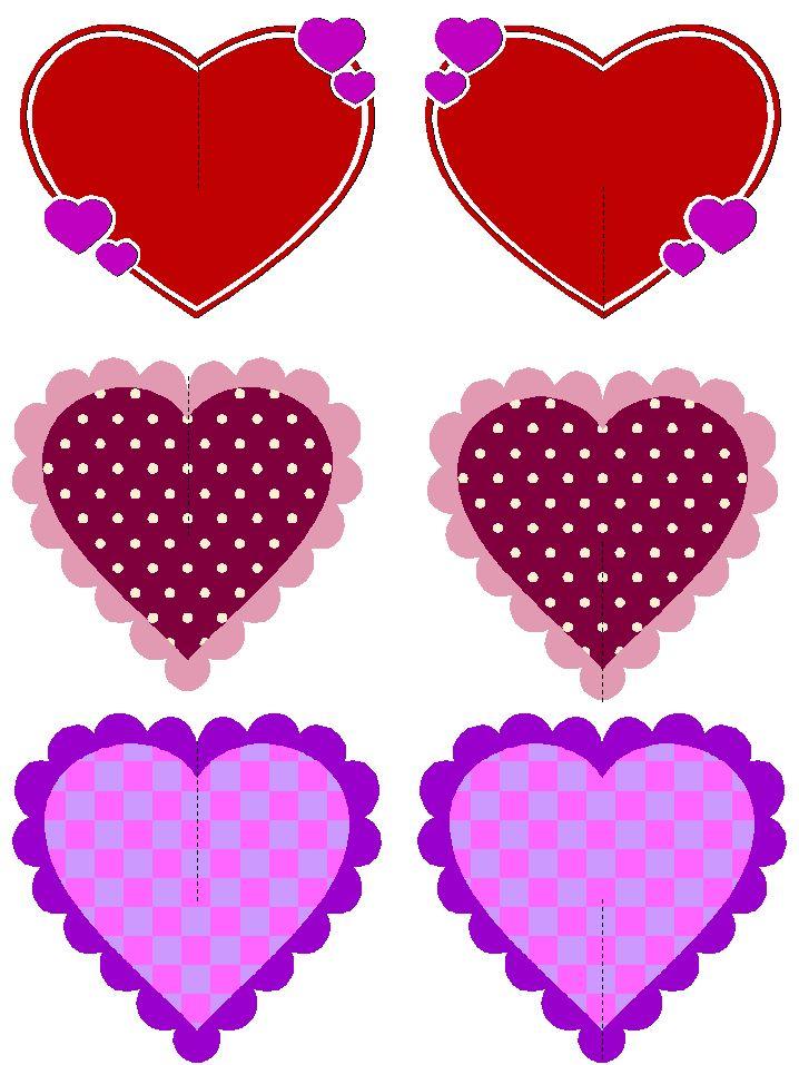 Маленькие сердечки открытки