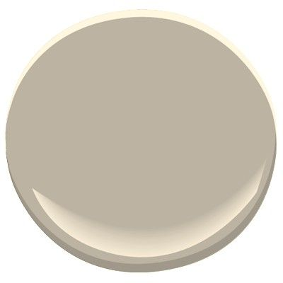 Benjamin Moore Pashmina, goes with Manchester tan, gray wisp, jute, thunder, or van courtland blue. A rich neutral, green gray undertones: