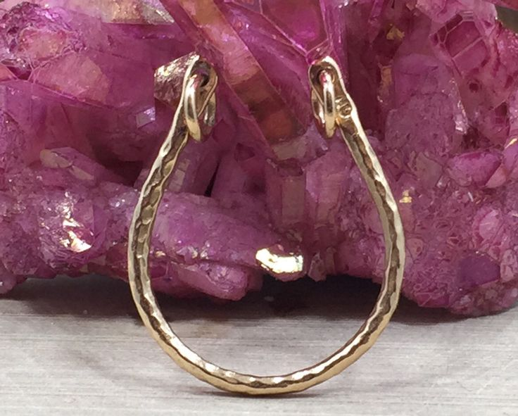 Horseshoe Charm, Bronze Horseshoe Pendant, Horseshoe Festoon Charm, Horseshoe Connector, Bronze Charm