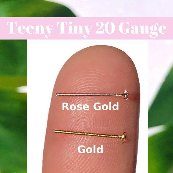 Tiny 20 Gauge Nose Stud L Shaped Nose Ring 20g Nose Stud Etsy L Shaped Nose Ring Diamond Nose Stud Nose Stud