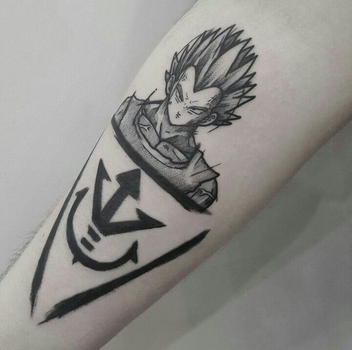 Vegeta Tattoo Dbz Tattoos Pinterest Tatuajes Frikis Y Dragon Ball
