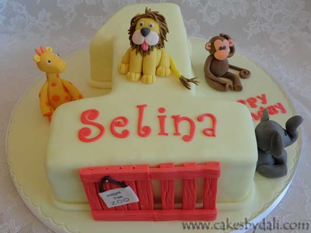 """""""Dear Zoo"""" number 1 cake. Such a cute cake to make."""
