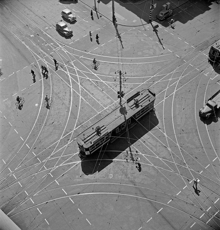 Max DUPAIN. Tram abstraction  1930, gelatin silver print, 42.8 x 40.0 cm. Monash Gallery of Art, City of Monash Collection acquired 1990.