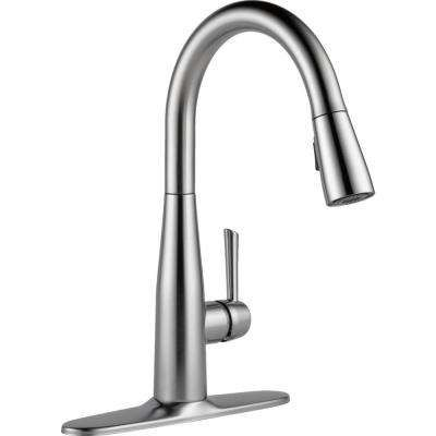 Essa Single-Handle Pull-Down Sprayer Kitchen Faucet with MagnaTite Docking in Arctic Stainless