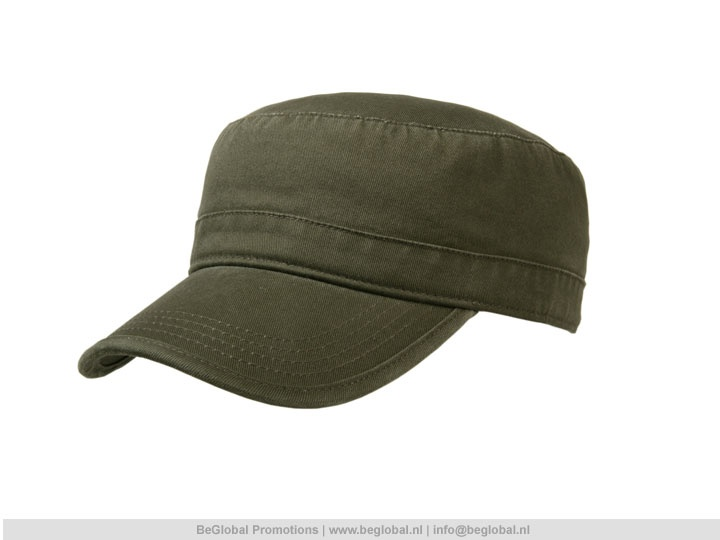 Relatiegeschenken productvandedag army cap van 100 katoen en leverbaar in de kleur legergroen - Paraplu katoen ...