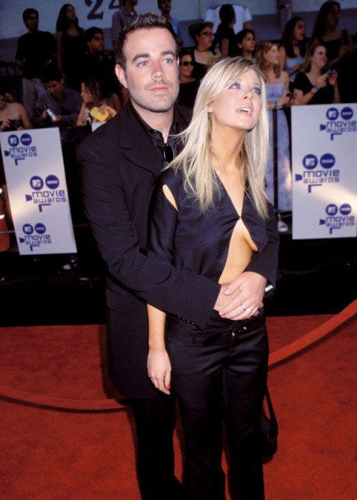 Carson Daly & Tara Reid at the 2000 MTV Movie Awards