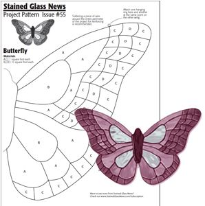 Mosaics Patterns Free Downloads | Free SGN Pattern #55 - More Free Patterns - Stained Glass News