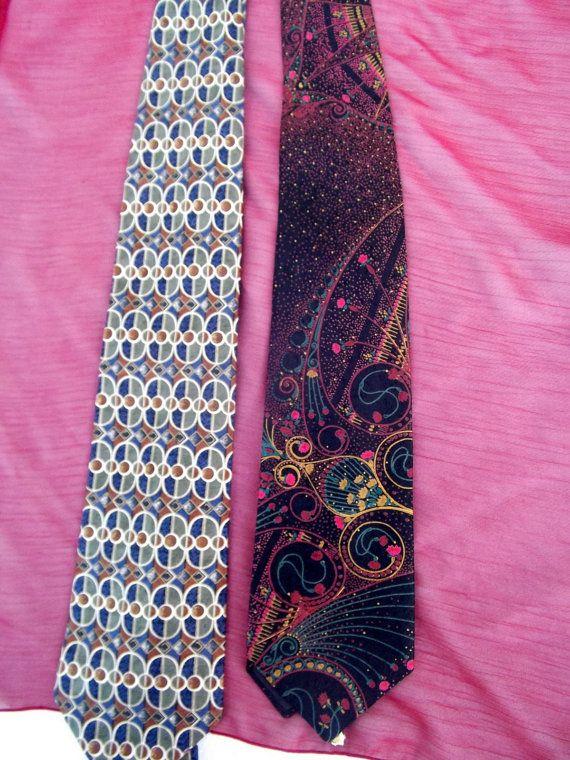 Alpi vintage ties lot of 2 silk by CHEZELVIRE on Etsy, $10.00