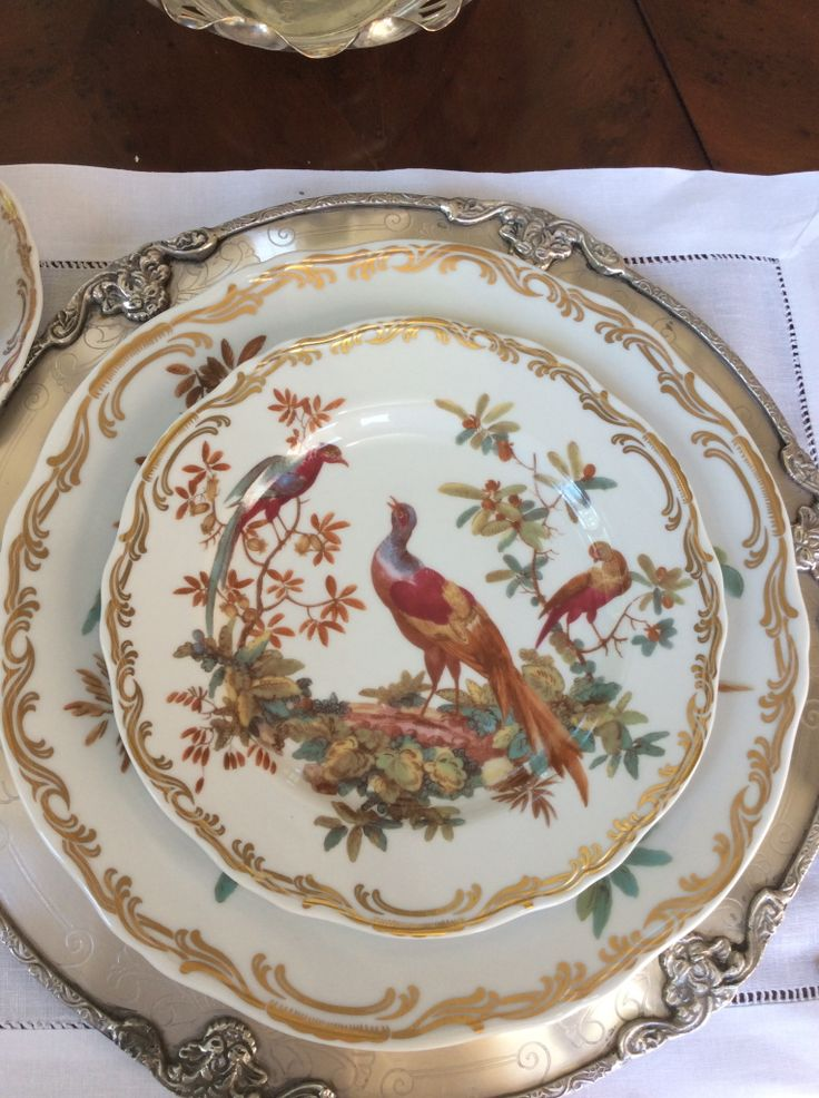 Pheasant plates- perfect for fall table setting - adore it. & 484 best z- china- birds images on Pinterest | Dishes Dinner plates ...