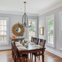 They are both sherwin williams paint - trim color is SW-7005 Pure White, and the wall color is SW-7064 Passive