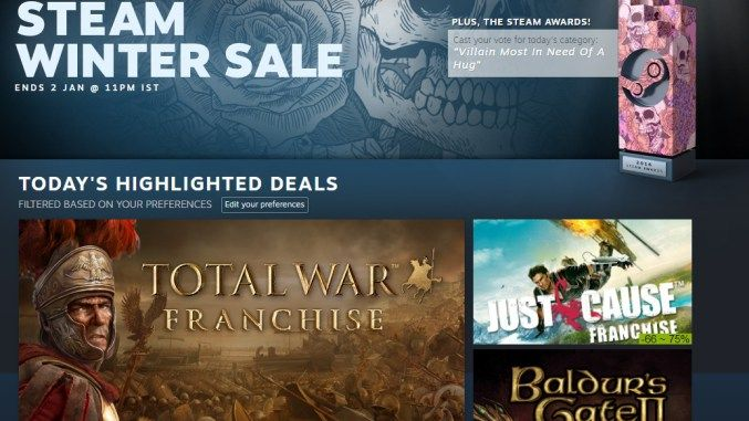 The Steam Winter Sale is live: Best Deals – techhgeeks